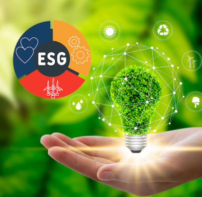 Hand holding light bulb against nature on green leaf with icons energy sources for renewable, sustainable development. Technology ,Environment ,Ecology concept.
